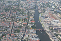 Spree in Berlin mit Oberbaumbrücke